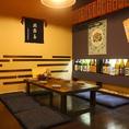 【お座敷席】席は30席。美味しい料理、お酒、はなびの居心地の良い空間をご満喫ください。