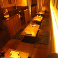 1Fのテーブル席は30~40名様で貸切もOK