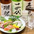 当店自慢の逸品料理の味をさらに引き立てるお酒を種類豊富にご用意いたしました。全国各地の日本酒・焼酎の中から料理に合うものを厳選!定番の銘柄から、少し珍しい銘酒まで幅広くご堪能いただけます。