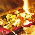 自慢の焼き鳥は備長炭を使ってジューシーに焼き上げます!