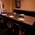 3名様~8名様まで利用可のテーブル個室。ご家族・ご友人と