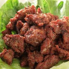 ラム肉とクミン炒め