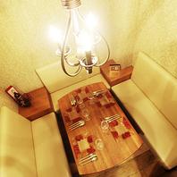 【6名様迄OK】シャンデリアの灯る個室完備