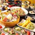 新鮮なお野菜・鮮魚でつくりあげたコースの数々!