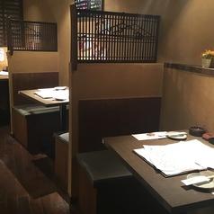 ◆1~2名の少人数先も少人数の席でも落ち着ける◆入口すぐ横の席は壁で区切られており、落ち着いてご利用いただけます♪特にお一人様に大人気です!