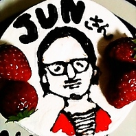 似顔絵もケーキに!