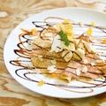 料理メニュー写真チョコバナナ クレープシュクレ 大人な洋酒香るラム酒クリームとバナナ チョコレート&キャラメルソース