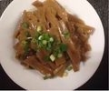 料理メニュー写真ピータン豆腐、メンマ、ピータン、枝豆、ザーサイ、ネギチャーシュー