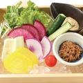 料理メニュー写真産直野菜盛り合せ