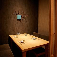 接待にも重宝するテーブル席完全個室(~4名様×4部屋).