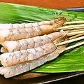 料理メニュー写真【人気串ランキング1位】エビ。定番のプリップリ海老♪