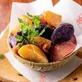 料理メニュー写真3種のお芋のポテトフライ