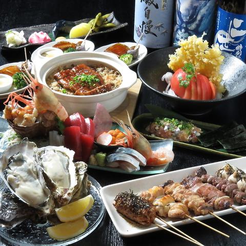 《生ビール込飲み放題付き!》全10品絶品海鮮満喫コース5500円→5000円