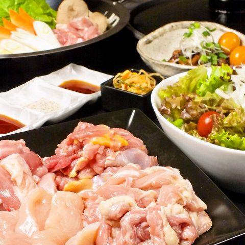 【120分飲み放題付】 鶏鍋コース4500円