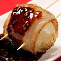 料理メニュー写真半熟卵豚巻き串/もちチーズ巻き