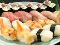 料理メニュー写真ご好評の江戸前にぎり寿司!