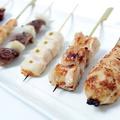 料理メニュー写真新鮮鶏串焼きセット<6本>