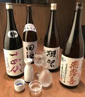 獺祭などのプレミアム日本酒も多数取り揃えております。