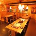 【1階】テーブル席は2名~お友達やカップルなどお気軽に♪テーブル席は最大16名様で利用可能!!