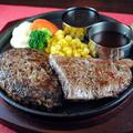 料理メニュー写真『アンガス牛』ビーフステーキ(サーロインステーキ) 100g&牛100%プレミアムハンバーグ 190g