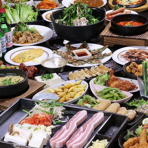 サムギョプサル食べ放題は3000円~!120分食べ飲み放題コースをご用意してます★