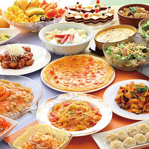 新鮮な食材を使った地中海料理、ランチブッフェやコースディナーで贅沢なひと時を
