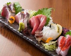 本日の鮮魚五種盛り
