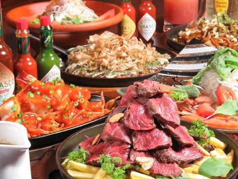 肉と言えば鉄板男!お好み焼きや鉄板料理もおいしいですよ♪
