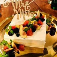 【誕生日・記念日】メッセージプレートやケーキのご用意