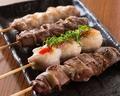 料理メニュー写真宮崎県産 霧島鶏使用(もも肉、ささみ、ハツ、レバー、砂肝)