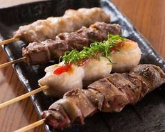 宮崎県産 霧島鶏使用(もも肉、ささみ、ハツ、レバー、砂肝)