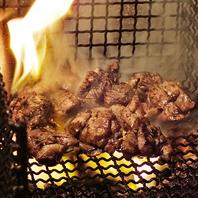 みやざき地頭鶏を備長炭の炎で豪快に炭火焼きに!