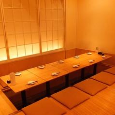≪やさしい灯りの掘りごたつ席8名様≫温かな光に包まれる、人気のお席です♪