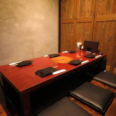 宴会が可能な広々とした掘りごたつ個室。ちょっとした飲み会や、宴会におすすめです。