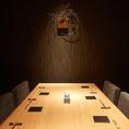 少人数宴会にぴったりなテーブル席完全個室(~6名様×2部屋).
