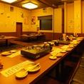【3F】ゆったり掘り炬燵で楽しめる宴会個室は最大30名までOKです!