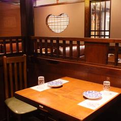 2名様でご利用いただけるテーブル席もございます。