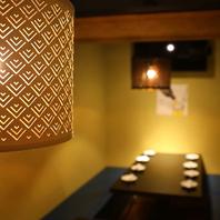 和洋モダンの完全個室でプライベートな時間を堪能可能!