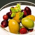 料理メニュー写真オリーブ2種盛り