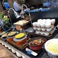 【お料理コーナー】お料理はIHコンロで品温を維持◎あつあつのお料理をご提供します。