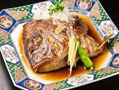 料理メニュー写真真鯛のかぶと煮付け