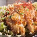 料理メニュー写真鶏モモ唐揚げ(大判1枚丸ごと)