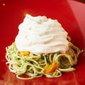 料理メニュー写真泡泡冷製ウニボナーラパスタ