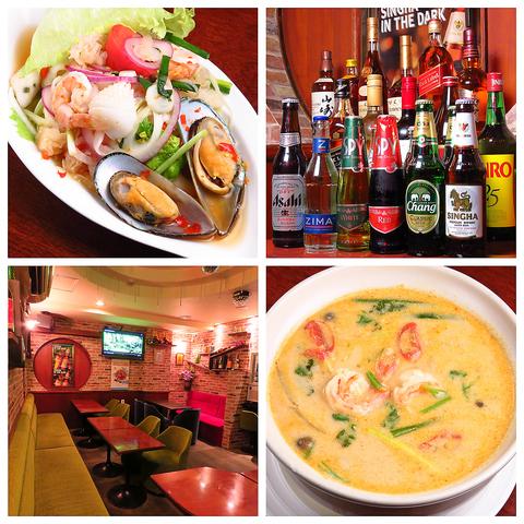 本格タイ料理を豊富にご提供!カラオケレストラン◎