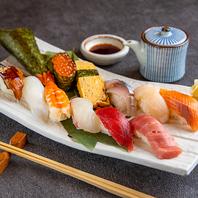 オススメ!新鮮な海鮮を使った上握り寿司!