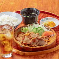 お昼の人気定食メニュー!絶品生姜焼き定食680円(税込)