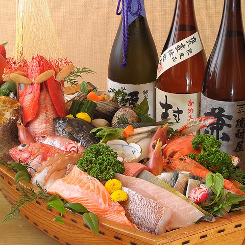 本当に旨い食材のみを使用した本格寿司を味わえる◇自慢のお酒と共にご堪能下さい