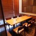 【半個室テーブル席:6名様】少人数の女子会や、宴会にいかがでしょうか。宴会用のコースも多数ご用意!飲み放題もお付けできます☆