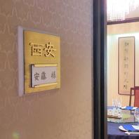 個室には全て中国の地名の名が!