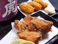 料理メニュー写真枝豆/鶏のカレー揚げ/カキフライ/鶏軟骨揚げ/フライドポテト